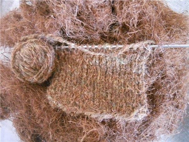 Лесная шерсть. Прядение и плетение из сосны