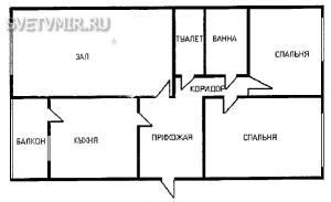 Рис. 2. Планировка типичной городской квартиры