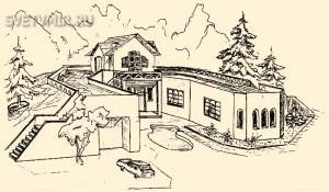 Рис. 4. Дом-подкова