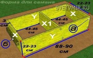 Форма для саманных блоков