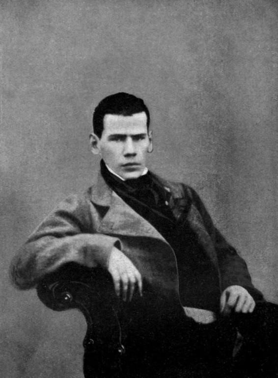 Лев Толстой в возрасте 20 лет