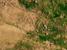 Обезлесение на острове Гаити — слева Гаити, справа — Доминиканская республика