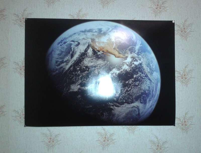Foto 1710 - СветВМир.ру - Интересный познавательный журнал. Развитие познания - Распечатал Землю на стену. Класс!