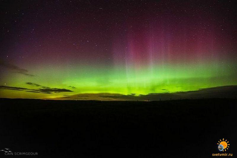 aurora october 4 - СветВМир.ру - Интересный познавательный журнал. Развитие познания - Северное сияние 7 октября 2015 года (фото и видео)