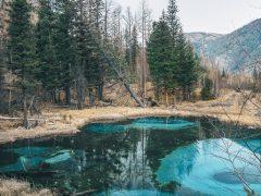 Живое гейзерное озеро необычайно красивого цвета в глубине Алтайской республики (3 фото)