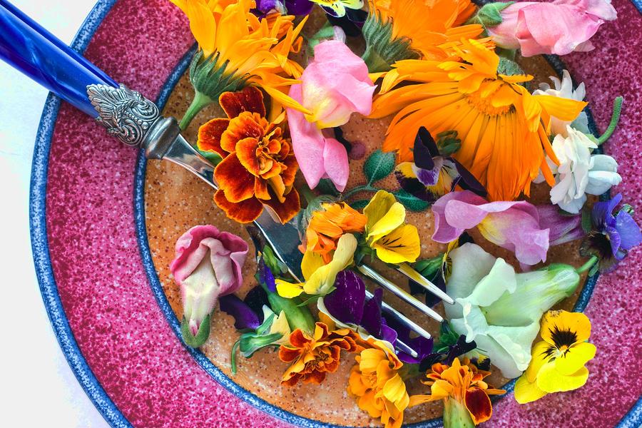 Какие цветы употребляются в пищу разных народов