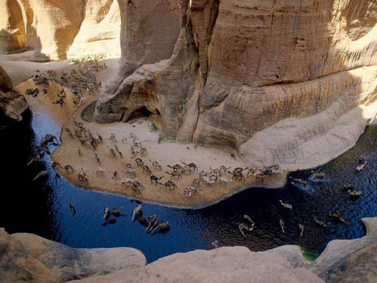 XkUmyFk4x9E - СветВМир.ру - Интересный познавательный журнал. Развитие познания - Естественный водоем в пустыне Сахара - Гельта д'Аршей
